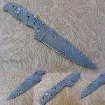Damascus Steel Blank Blade Skinner Knife