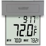 La Crosse Technology Large Window Thermometer w/ Solar Powered Backlight