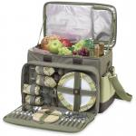 Picnic at Ascot Ultimate Insulated Picnic Cooler with Service for 4  - Olive Tweed