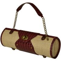 Picnic at Ascot Wine Carrier & Purse, Straw/Brown