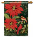 Magnet Works Poinsettia Cardinals Standard Flag