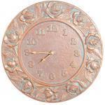 Whitehall Rose Clock - Copper Verdi