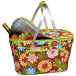 Picnic at Ascot Stylish Insulated Market Basket / Picnic Tote with Sewn in Aluminum Frame - Floral