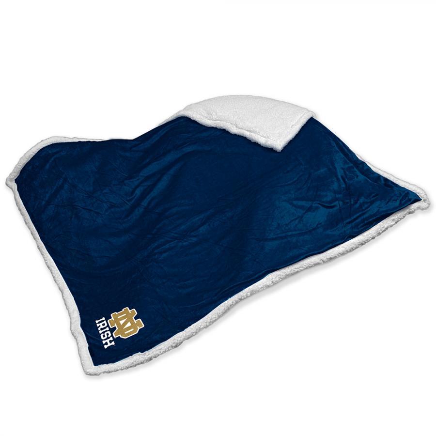 Logo Chair Notre Dame Fighting Irish NCAA Soft Plush Sherpa Throw Blanket (50in x 60in)