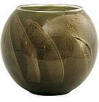 Olive Candle Globe by Olive Candle Globe The Inside of This 4 in Polished Globe is Painted with Wax to Create Swirls of Gold and Rich Hues and Comes i
