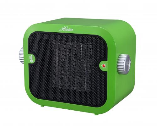 Hunter home comfort pc 003gn retro ceramic space heater for Green heaters for home