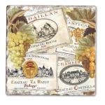 Counter Art Wine Labels Single Tumbled Tile Coaster