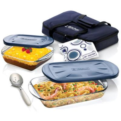 Anchor Hocking 6 Pc Essentials Ovenware Set with Tote Bag