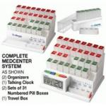 MedCenter System Talking Monthly Pill Reminder, 2 Organizers Plus 7 Day Travel Pack