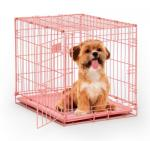 "Mid-West Metal Products iCrate Single Door Dog Crate - Pink, 24"" x 18"" x 19"""