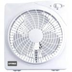 Optimus 10 Inch White Box Style 2 Speed Fan