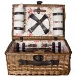 Picnic & Beyond Sunrise Collection 4-Person Willow Suitcase Picnic Basket