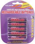 Lenmar PRO1010 AAA NIMH Batteries (10 Pack)