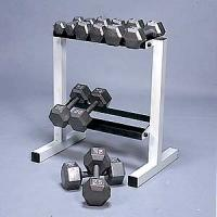 Cap Barbell 150 Pound Hex Dumbbell Set with Rack