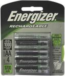Energizer NH15BP-4 Rechargeable NiMH Batteries (AA 4 pk)