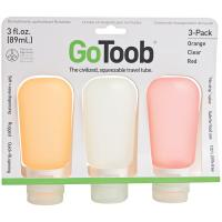 Human Gear Gotoob 1.25 Oz 3 Pack - Clear/Orange/Red