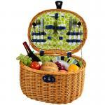 Picnic at Ascot Ramble Picnic Basket for 2, Trellis  Green