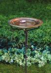 Ancient Graffiti Solid Copper Birdbath w/Iron