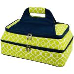 Picnic at Ascot Two Layer Hot/Cold Thermal Food and Casserole Carrier -Trellis Green