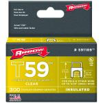 Arrow Fasteners 591189 Clear T59 Insulated Staples For Rg59 Quad & Rg6, 1/4 X 5/16, 300 Pk