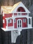 Home Bazaar  Shelter Island Summer Cottage Birdhouse - Red