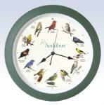 """Mark Feldstein 13"""" Green Audubon Bird Clock"""