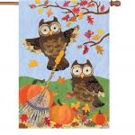 Premier Designs Autumn Owls House Flag