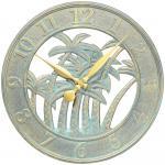 Whitehall Palm Clock  - Bronze Verdi