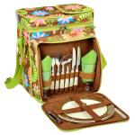Picnic at Ascot Insulated Picnic Basket/Cooler Fully Equipped with Service for Two - Floral