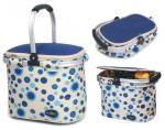 Picnic & Beyond Blue Empty Aluminum Framed Picnic Cooler Basket