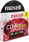Maxell 625132 Music CD-R, 5-Pack