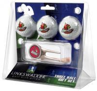 Louisville Cardinals 3 Ball Gift Pack w/ Cap Tool