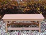 Bird's Choice Traditional Bench-Tangerine