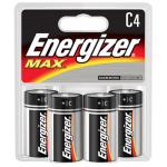 Energizer C Alkaline Batteries, 4 Pack
