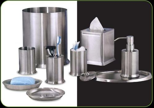nu steel newport 8 piece bathroom accessories set brushed stainless