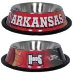Arkansas Razorbacks Stainless Dog Bowl