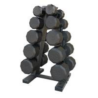 Cap Barbell 150lb Dumbbell Set with Rack
