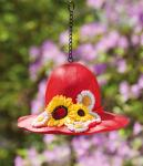 Evergreen Enterprises Birdhouse Sunflower Hat Red