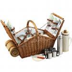 Picnic at Ascot Huntsman Basket for 4 w/coffee set & blanket -Gazebo