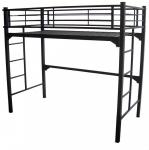 Blantex University 39 x 75 Loft Bunk Bed With Built in Ladder & 2 Guardrails