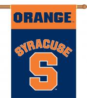 """Syracuse Orange Two-Sided 28"""" x 40"""" Banner with Pole Sleeve"""