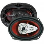 """Boss Black Car Speaker Pair 6X9"""" 500W Chaos 4 Way Full"""