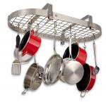 Enclume Stainless Steel Low Ceiling Oval Pot Rack