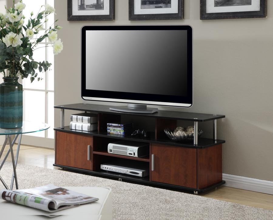 Designs2Go XL Monterey TV Stand (Cherry / Black)