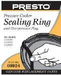 Presto 09924 Sealing Ring And Overpressure Plug For Pressure