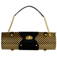 Picnic at Ascot Wine Purse - Patent Black