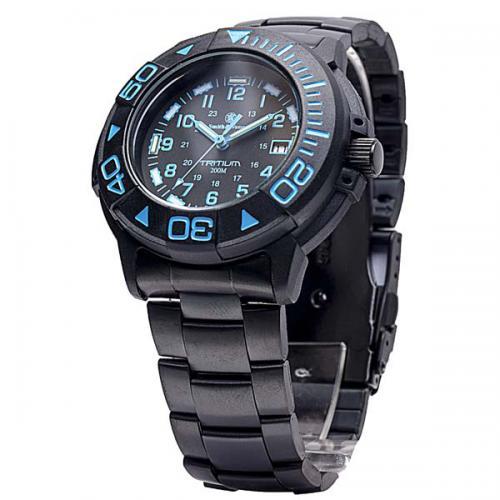 Smith wesson diver tritium watch 40mm w blue face - 40mm dive watch ...