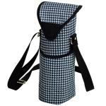 Picnic at Ascot Insulated Wine/Water Bottle Tote with Shoulder Strap -  Houndstooth