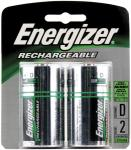Energizer NH50BP-2 Rechargeable NiMH Batteries (D 2-pk)