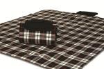 """Mega Mat Folded Picnic Blanket with Shoulder Strap - 48"""" x 60"""" (Red Scottie)"""